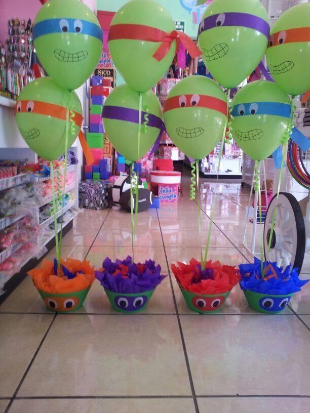 """""""Te gustan estos globos de Tortugas Ninja #Saltillo tenemos todo para tus piñatas."""""""