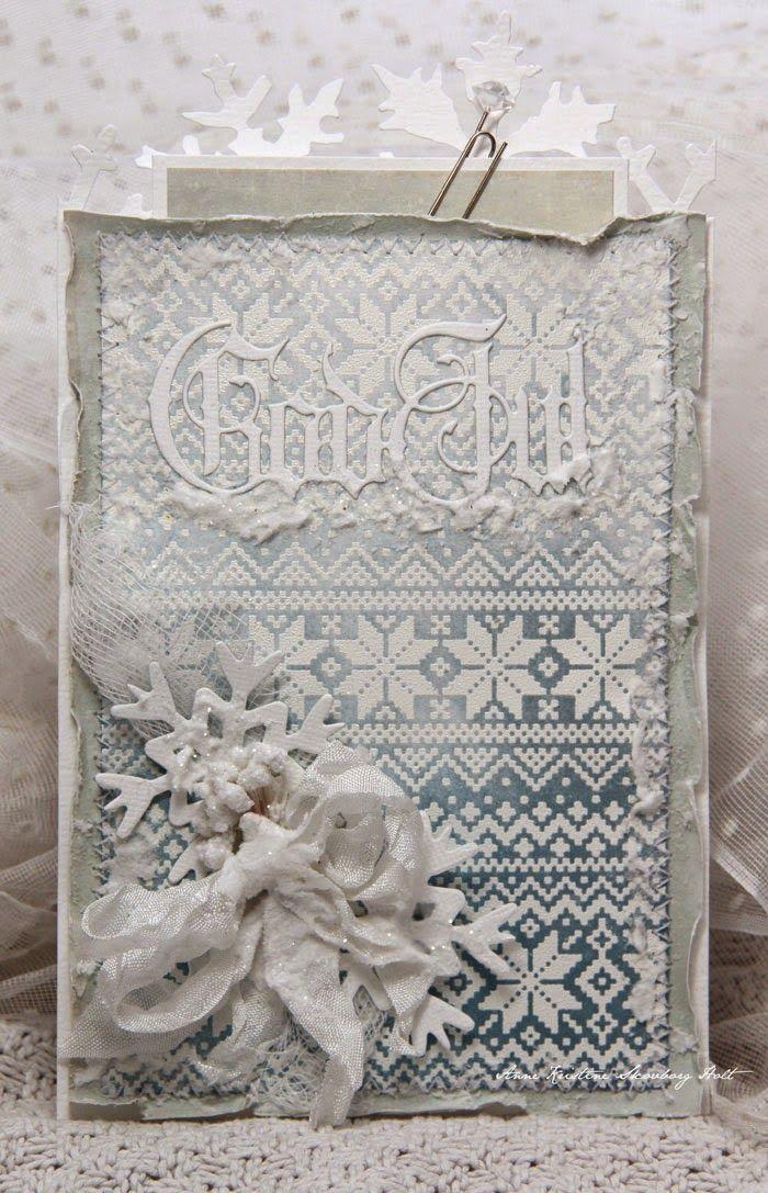 Винтажные рождественские открытки своими руками