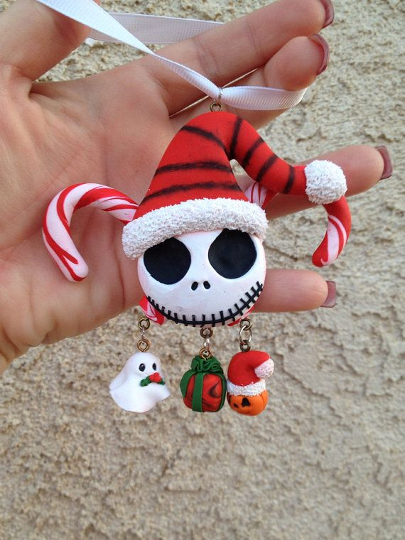 Nightmare+Before+Christmas+Clay+Ornament+by+AmandaVenuti+on+Etsy,+$12.00