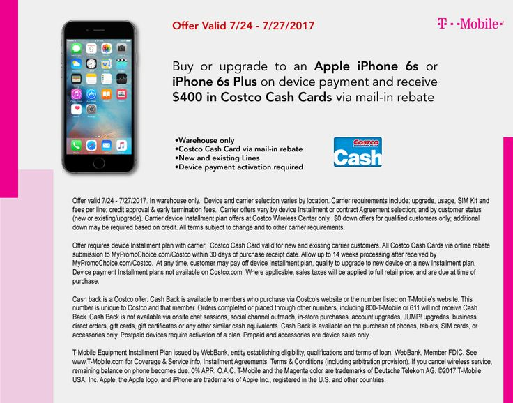 T-Mobile iPhone 6s and SE for $150  tax through Costco with Mail in Rebate YMMV #LavaHot http://www.lavahotdeals.com/us/cheap/mobile-iphone-6s-se-150-tax-costco-mail/228515?utm_source=pinterest&utm_medium=rss&utm_campaign=at_lavahotdealsus