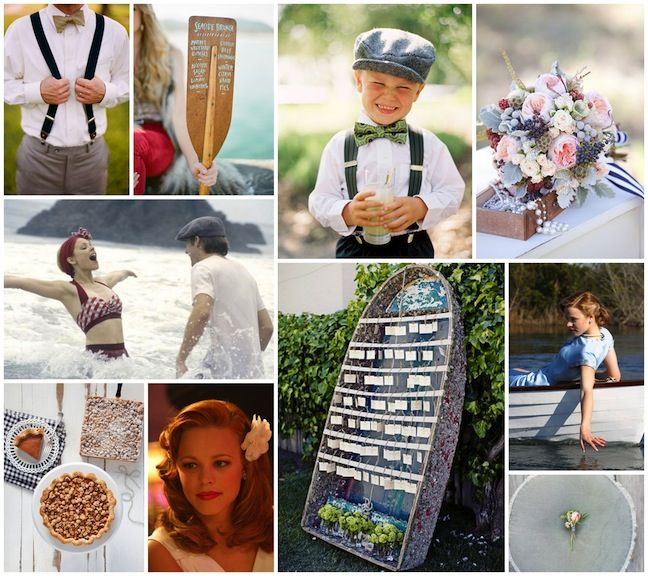 Nautical The Notebook wedding inspiration from Linen, Lace & Love: 1940's wedding inspiration