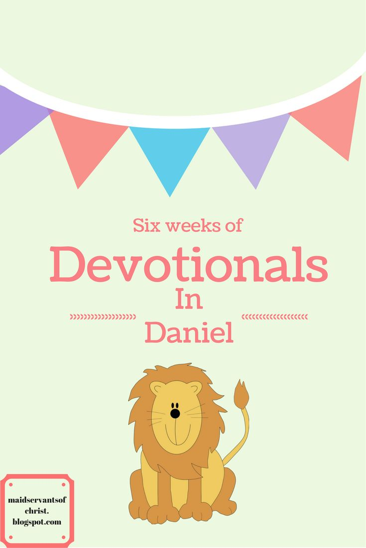 6 weeks of devotionals to share with your kids about the book of Daniel.    I hope that you have enjoyed the devotionals but even more I h...