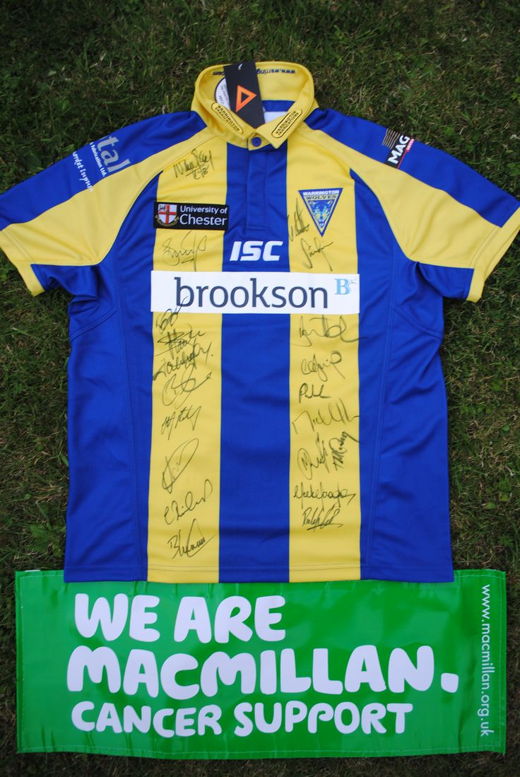 Item 057 – Signed Warrington Wolves Rugby Shirt – Kindly donated by the team