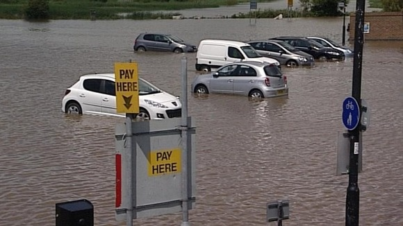 oops..park and ride for the olympic sailing events in Weymouth