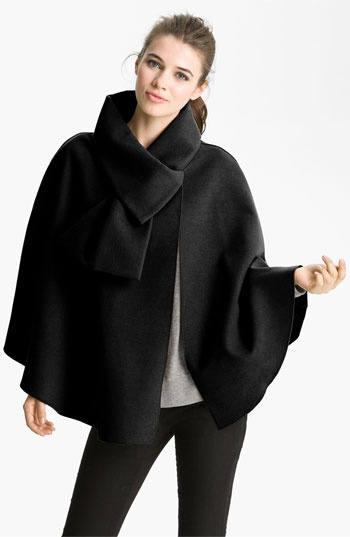 Packs small and doesn't wrinkle!  Halogen Asymmetrical Cape available at #Nordstrom