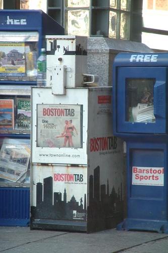 Public Newsstands in Boston, Massachusetts  Photo taken by http://www.flickr.com/photos/codispodi/
