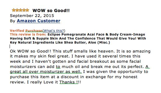 Eclipse Pomegranate and Acai Face & Body Cream  NATURAL & ORGANIC - Combines Shea Butter, Aloe, Pomegranate, Avocado to excite your senses!  www.globalcareessentials.com