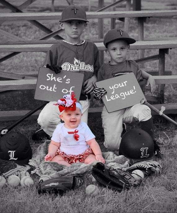 Picture For Brother Sister: Baby Girl Baseball Body Suit /ruffled Baseball Bloomer