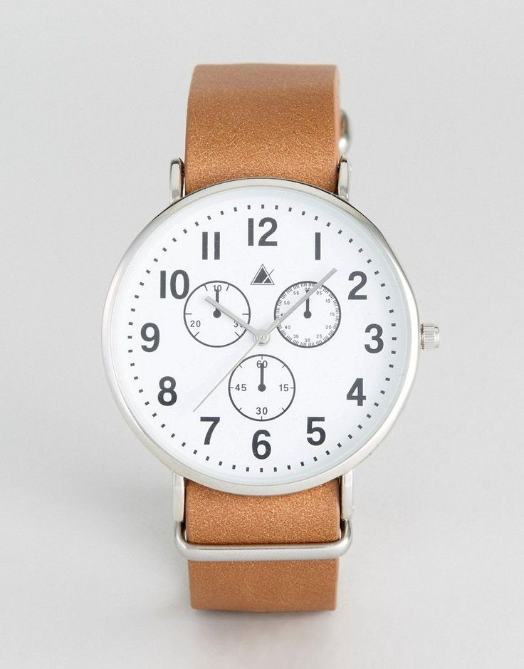 ASOS Watch With Leather Nato Strap And Vintage Styling - Brown