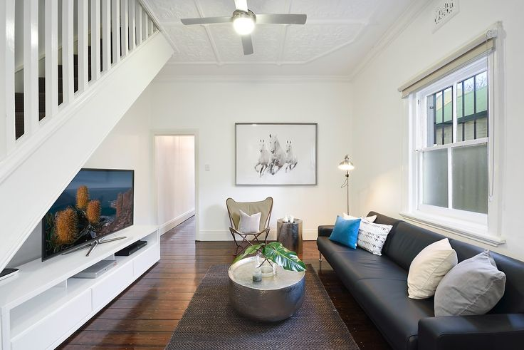 Interior Design, Living, TV, Couch, Lounge, Sofa, Staircase, Nature, Steel, Real Estate, For Sale, Annandale, Pilcher Residential