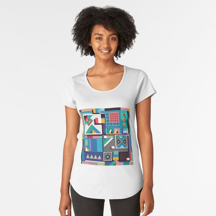 """""""Colorful Summer"""" Women's Premium T-Shirt by singpentinkhepi   Redbubble"""