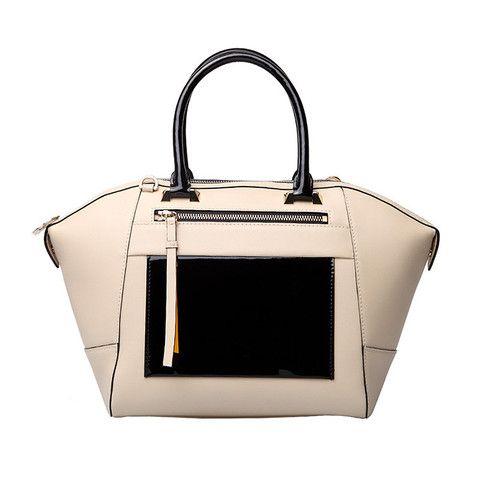 VANESSA HOGAN - Nadia Leather Tote - White | Love Handbags