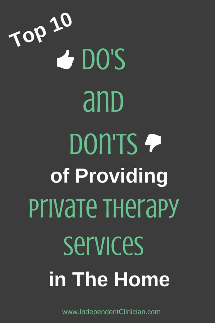 The top 10 dos and donts of providing therapy in the