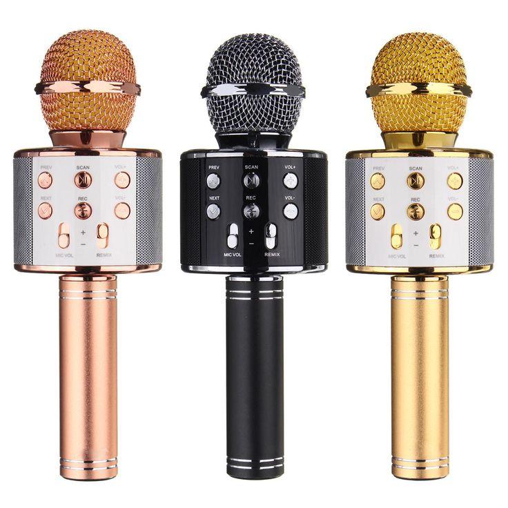 Universal Wireless Bluetooth Karaoke Microphone Speaker Handheld Mic USB Player for iPhone Samsung Sale - Banggood.com  Iphone smartphones mobile cellphones apple accessories