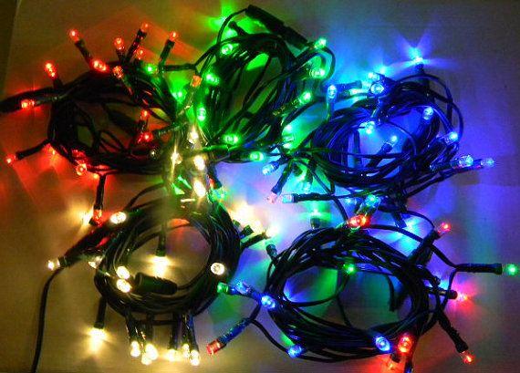 24 of 48 LEDs. 10 of 20 voeten. String lichten op een doos batterijbedreven met timer.  Gebruik voor Party Decor, Kerstverlichting, krans lichten.