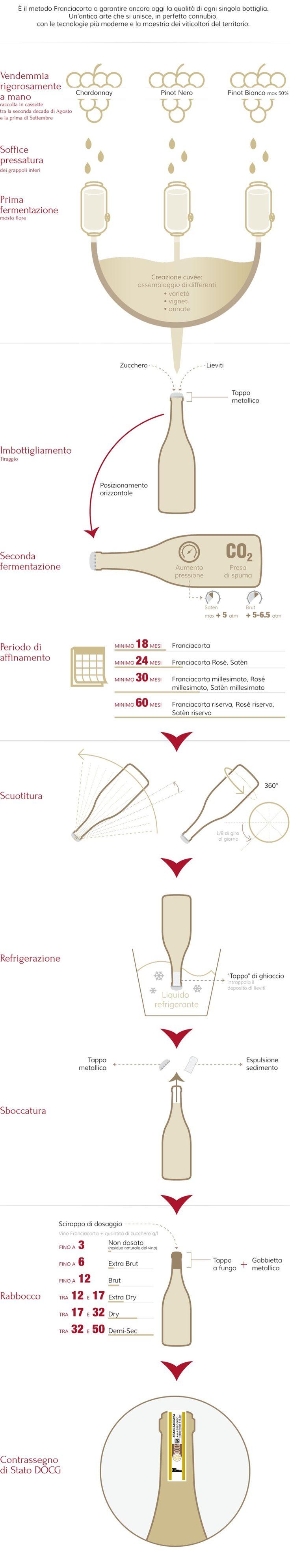 Método y Etapas • Franciacorta #infografía