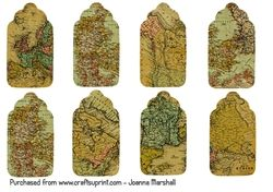 Map Gift Tags on Craftsuprint - View Now!