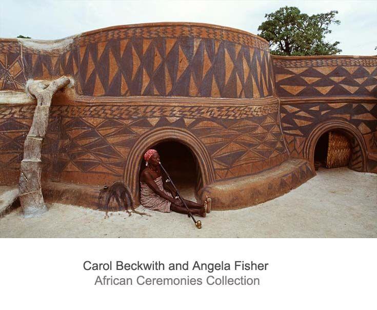 Africa | Kassena woman, sitting outside her homestead.  Ghana. | ©Carol Beckwith and Angela Fisher