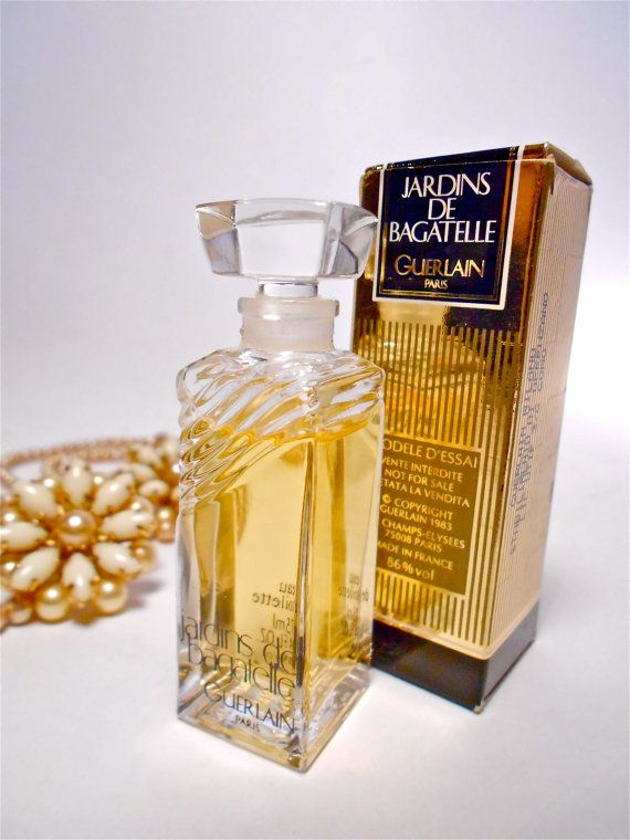 vintage 1980 profumo bottiglia  GUERLAIN Jardin de di danycoty, $55.00