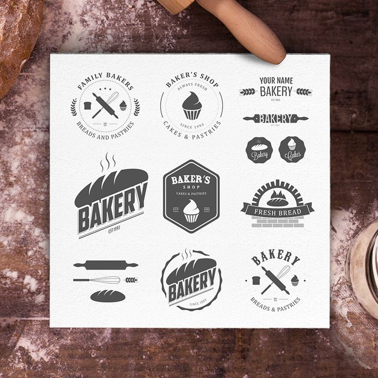 Bakery logos bundle by 1baranov on Creative Market