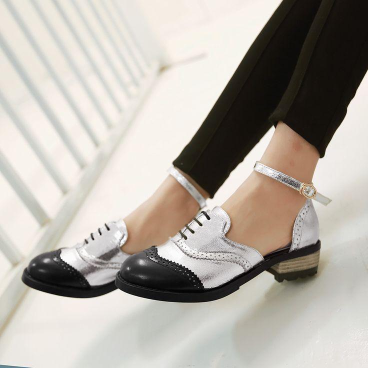 2015 oxford lage hakken vrouwen lace up sluiting vleugeltip 9015 brogues enkelbandje schoenen in 2015 oxford lage hakken vrouwen lace up sluiting vleugeltip 9015 brogues enkelbandje schoenenSpecificaties:Staat: merk n van vrouwen flats op AliExpress.com   Alibaba Groep