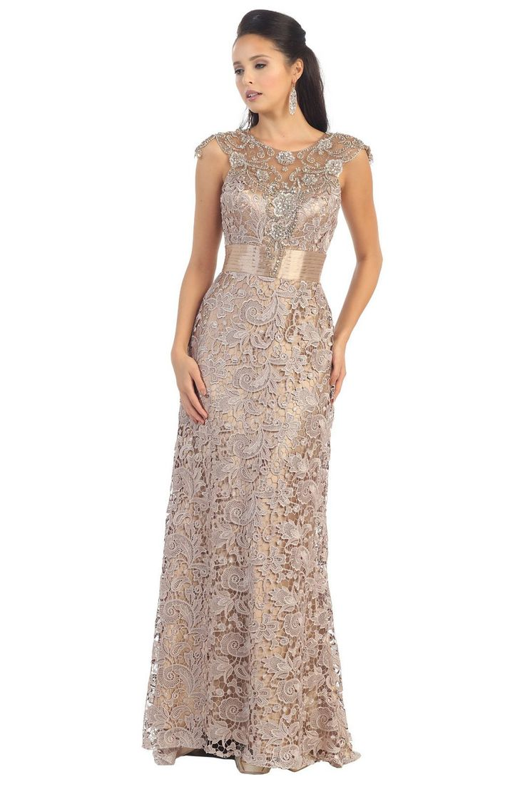 Long Lace Mother of the Bride Dress 2018 | Things to try ...