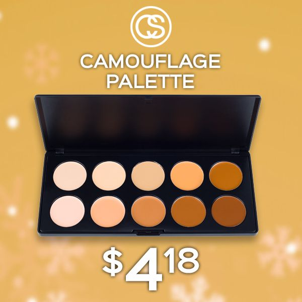 LAST SALE OF THE YEAR!UP TO 65% OFF THE ENTIRE WEBSITE!  Camouflage Concealer Palette now only $4.18, reg. $11.95! Seamlessly create a flawless complexion with ten full coverage shades. A makeup must have! #CoastalScents #iheartmakeup  Sale Expires 1/2/2018 at 11AM EST. While Supplies Last.