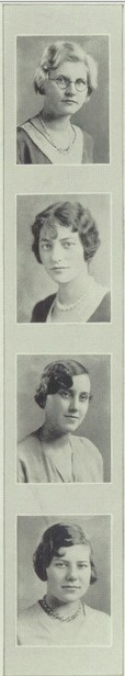 Hair of 1930 - in the yearbook of New Trier high school in Winnetka, Illinois.  #NewTrier #yearbook #1930 #hairstyle