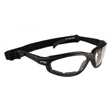 RX-901-B Prescription Safety Glasses, Black Wraparound Frame, #RX-901-B