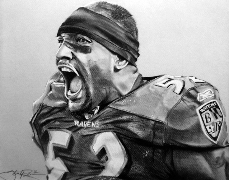 Ray Lewis Drawings Ray lewis black and white
