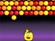 Free Online Puzzle Games, See if you can match 3 of the same colored bubbles to make them disappear in Bubble Hit! Aim your bow and arrow carefully and then launch each bubble towards the top of the screen!  Once you blast a group of bubbles, use the spacebar to draw them towards you to eat!, #candy #bubble shooter #matching