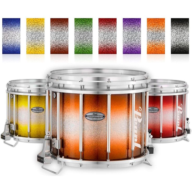 Pearl Championship Maple Varsity FFX Marching Snare Drum Burst Finish 14 x 12 in. Yellow Silver #963