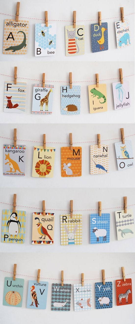 Animal alphabet cards for the nursery. #nursery #nurserydecor #nurseryart #nurse…