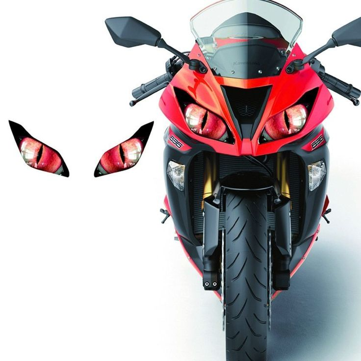 Modified Headlight Stickers Decals Refit Stickers Racing Cars Electric Motorcycle Ornaments Shark Universal Stickers For Yamaha Smartautotasev Anime Motorcycle Bike Helmet Design Motorcycle Artwork