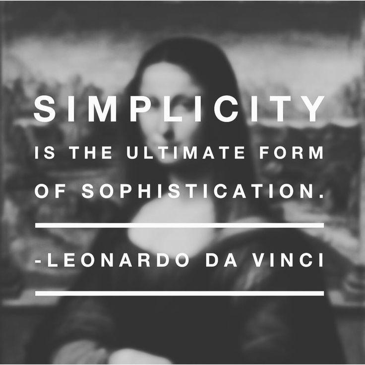 """Simplicity is the ultimate form of sophistication.""  Leonardo Da Vinci  #quotes #quote #quotesdaily #quoteoftheday #davinci #leonardo #likeforlike #followforfollow #follow4follow #like4like #learnenglish #englishlearning #english #englishlanguage(KSE Academy  Academia de inglés en Granada)"