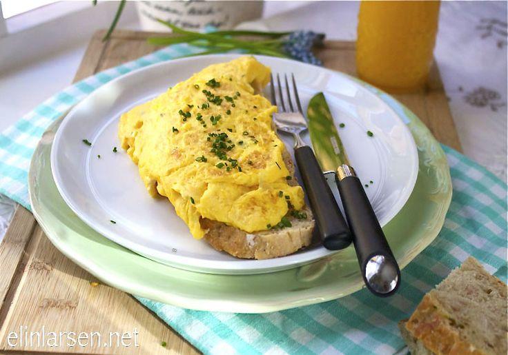 Omelett med gressløk
