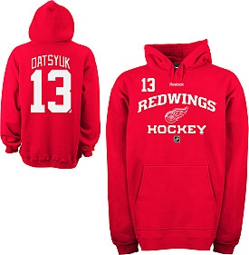 The authentic RBK Red Wings hoodie, just like the players wear.