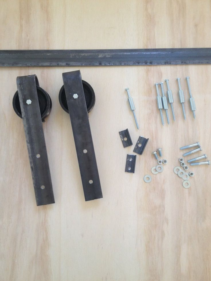 Amazon Com Rustic Flat Track Barn Door Hardware Kit 6