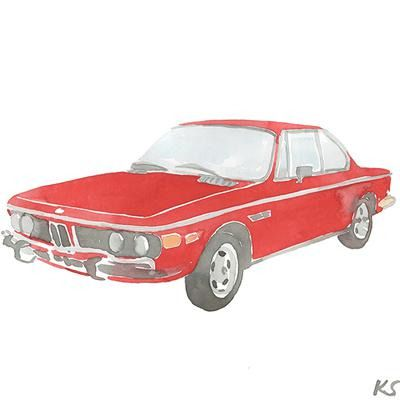 ANDY SPADE'S RED 1972 BMW 3.0CS by Kate Schelter.