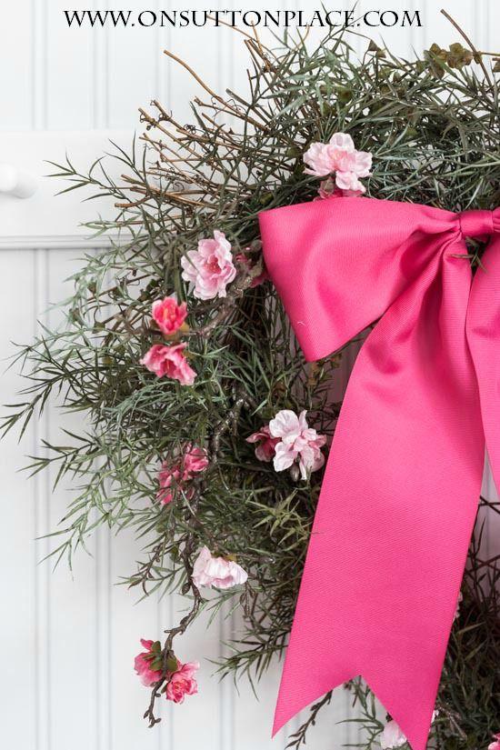 DIY Heart Wreath Ideas | One wreath, three ways! | onsuttonplace.com @ bHome.us