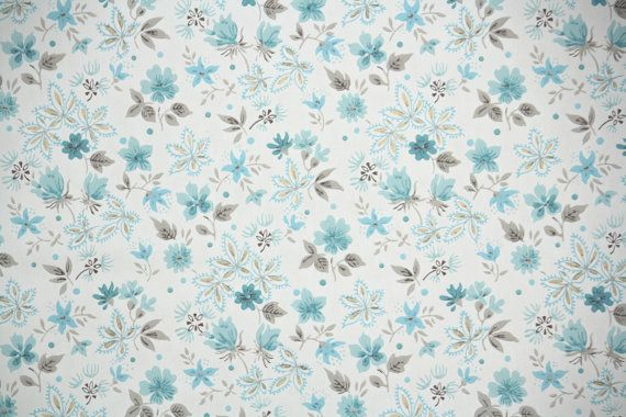 1940's+Vintage+Wallpaper++Floral+Wallpaper+by+HannahsTreasures,+$16.00