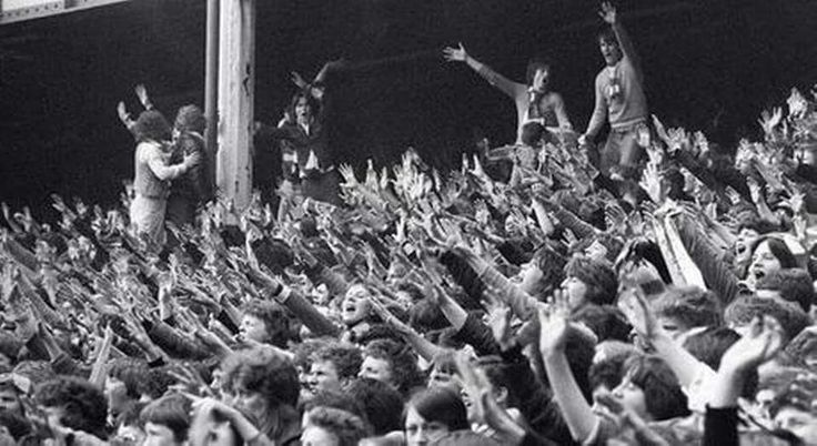 Everton Supporters, Goodison Park. 1991