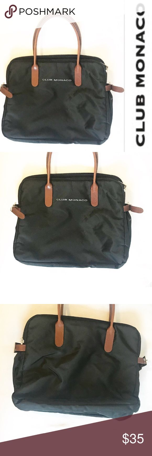 Club Monaco black nylon tote bag Club Monaco black nylon tote bag.  Plenty of storage, classic color and style.  This bag is pre-owned with minimal signs of wear.  Great staple piece for any wardrobe! Club Monaco Bags Shoulder Bags
