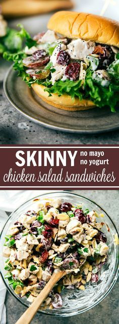 The BEST Chicken Salad Sandwiches made with a secret ingredient that makes these LOW CALORIE. No, it's not Greek yogurt! And there is no mayo in these either. Plus super quick and fast to make!