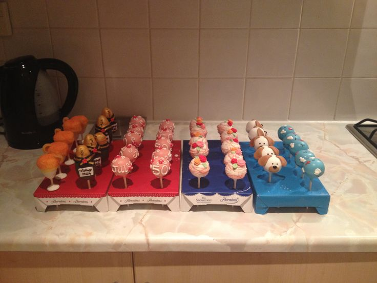 A variety of personalised Cake Pops
