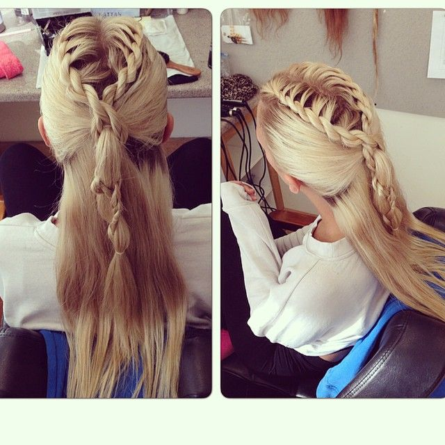 Thank you to my amazing hair stylist @maevereadman for doing my hair for drama school ❤️