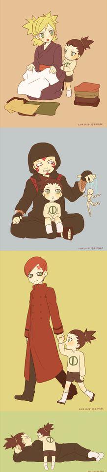 Sand siblings, Shikadai, and Shikamaru #Naruto