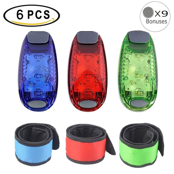 3pcs LED Safety Light with 3pcs LED Slap Armband Clip Running Lights for Runner Kids Bike Cycling Walking Jogging Accessories Flashing Reflective Gear Dog Collar Night Light Bonuses 9pcs Batteries. VERSATILE APPLICATIONS: This glow bracelet and light can be used to everywhere as long as you can imagined, such as slapping on the arm, wrist, ankle, hair or luggage pole, bicycle bars, dog collars, ect, for runners, cyclists, campers, night dog walkers, child safety, to keep you safe at…