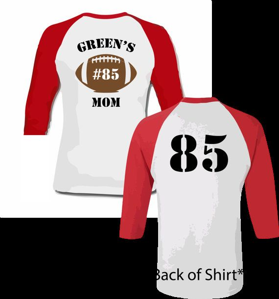 175 best sports mom shirts images on pinterest sports for Custom football shirt printing