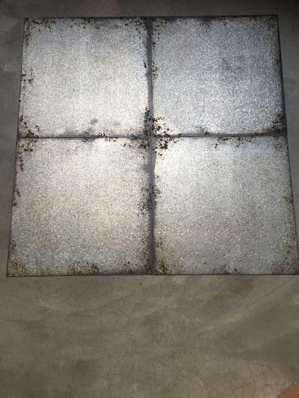 Metalen decoratieve tegel tegels wanddecoratie wandpaneel achterwand industriële industrieel metaal ijzer